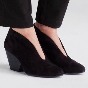 Eileen Fisher Iman Suede Ankle Boots Sz 8.5